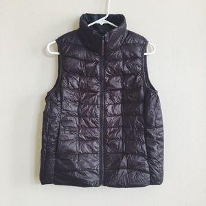 Dark Brown Puffer Vest
